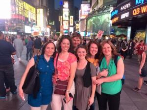 Times Square a kollégákkal